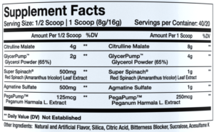 InnovaPharm NovaPump Ingredients