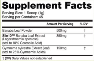 InnovaPharm Pump Dirt Ingredients
