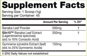 InnovaPharm Pump Dirt Ingredients