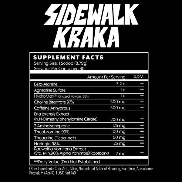 Iron Addicts Sidewalk Kraka Ingredients