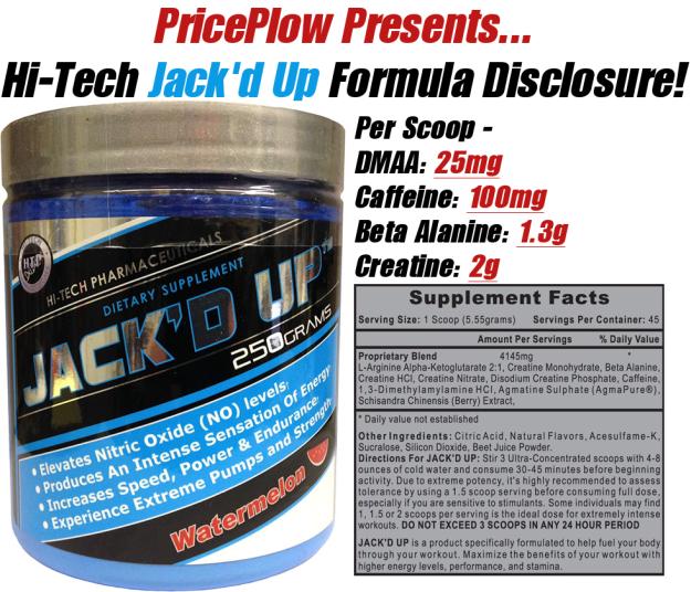 Jack'd Up Formula Disclosed!