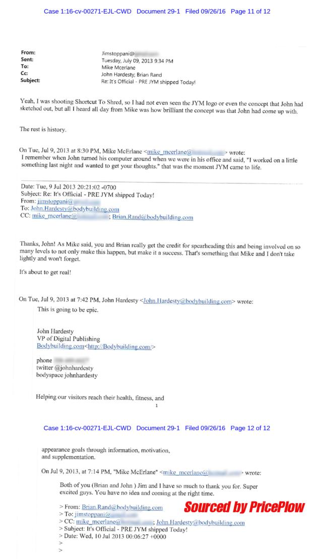 JYM Designer John Hardesty Email Thread