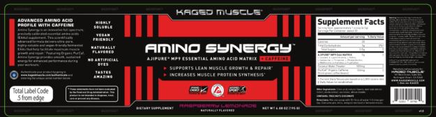Kaged Muscle Amino Synergy Label