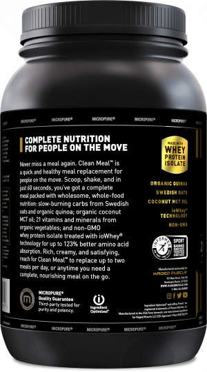 Kaged Muscle Clean Meal Label