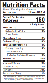 Kaged Musc;e Plantein Nutrition Facts