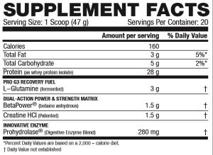 Kaged Muscle Re-Kaged Ingredients