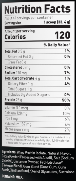 Kaged Muscle Whey Protein Smores Ingredients