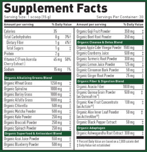Kaged Muscle Outlive Ingredients