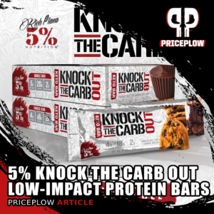 5% Nutrition Knocks the Carb OUT with Updated Low-Carb Protein Bars