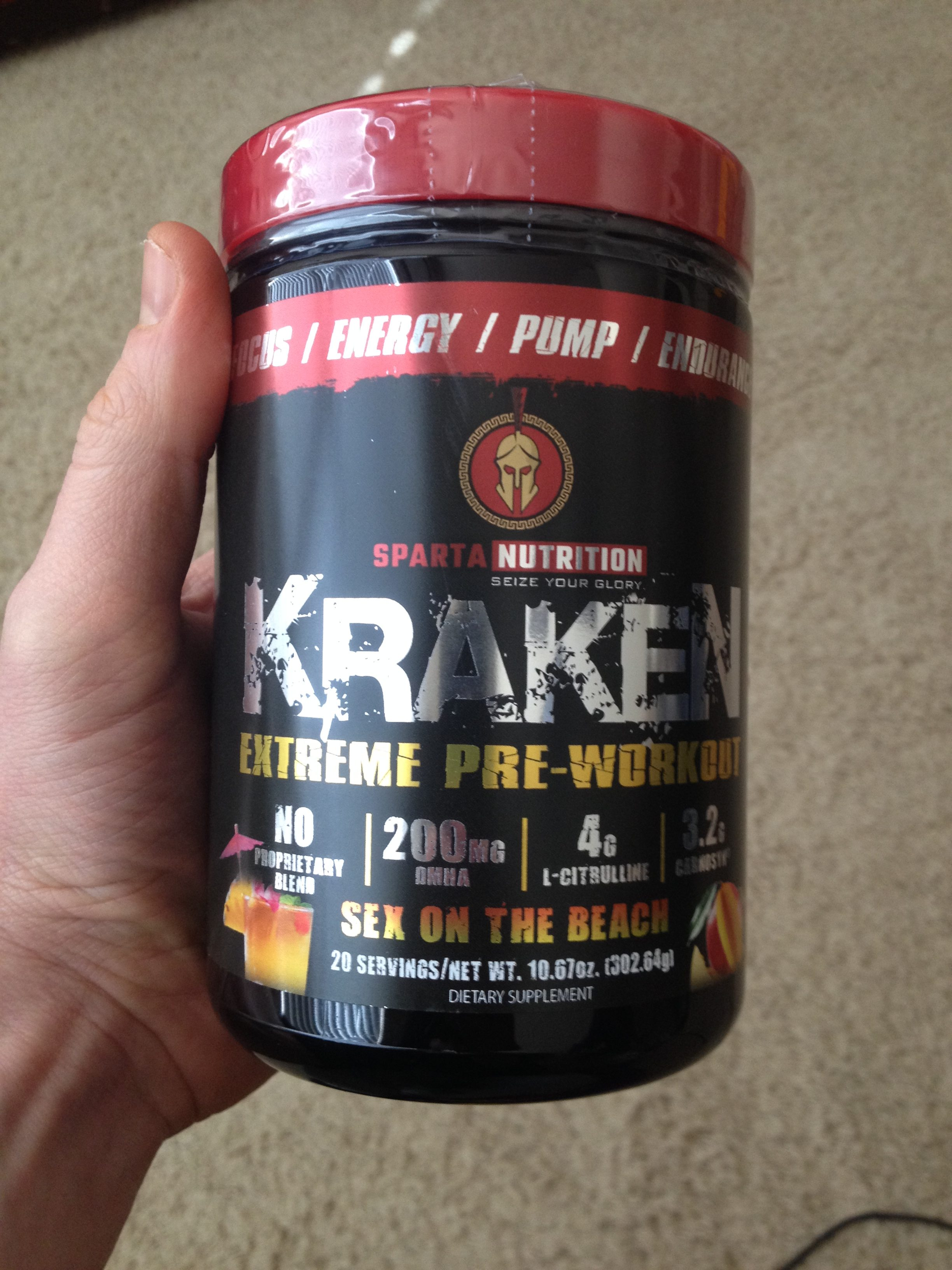 Dmaa Pre Workout >> Sparta Kraken Review: The Best 200mg Caffeine You'll Ever Take