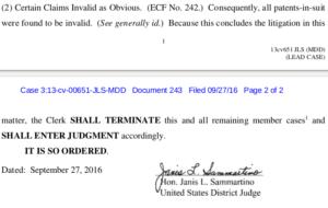 L-Arginine Patent Cases Terminated