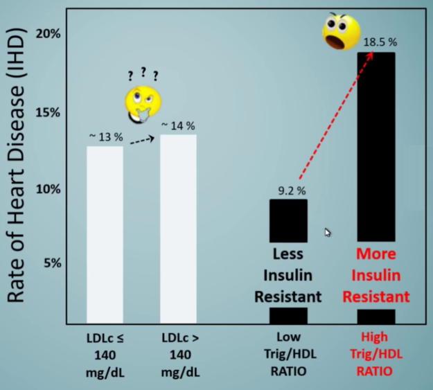 LDL vs. Triglyceride to HDL Ratio