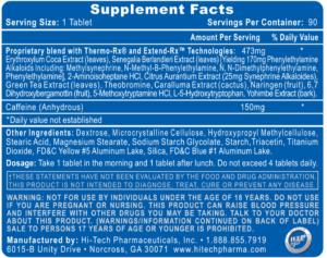 Lipodrene Elite Ingredients