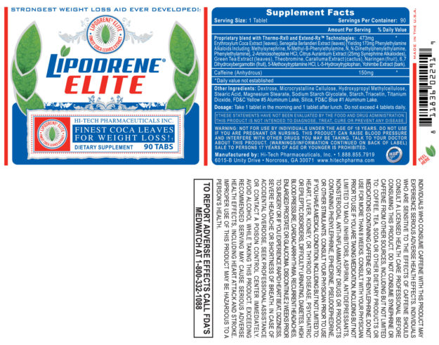 Lipodrene Elite Label