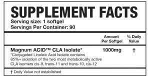 Magnum Acid Ingredients