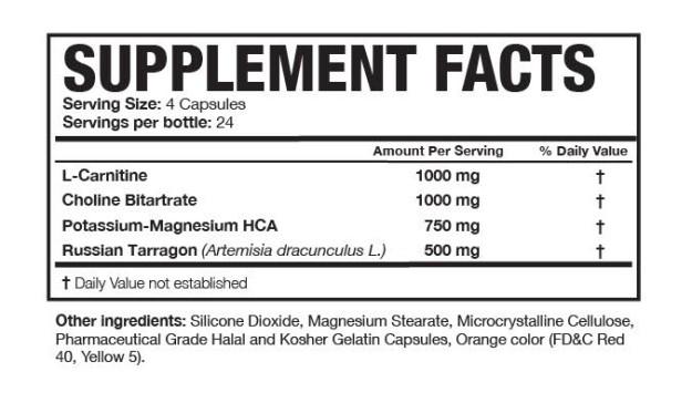 Magnum Carne Diem Ingredients