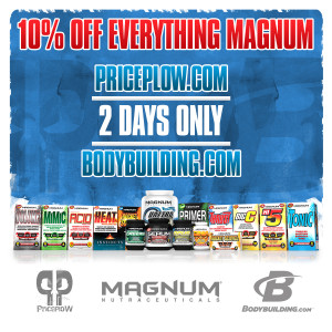 10% off Magnum Nutraceuticals at Bodybuilding.com