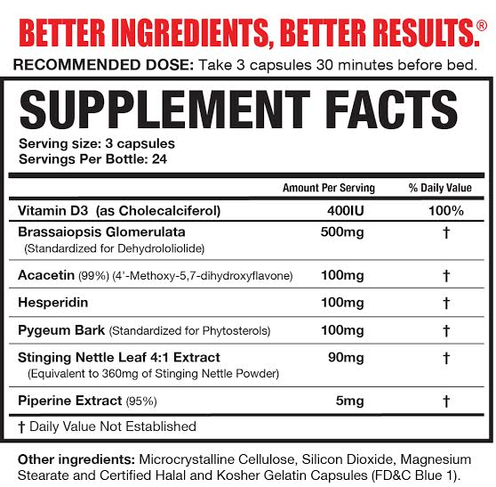 Magnum Nutraceuticals E-Brake Ingredients