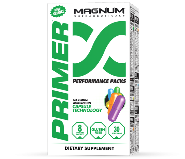 Magnum Primer is a comprehensive multivitamin / multimineral that covers all the bases you need plus omega 3 and digestive support.