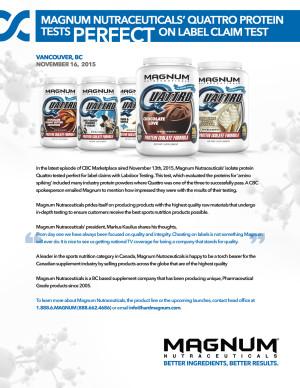 Magnum Quattro Lab Test