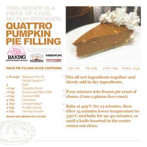 Quattro protein pumpkin pie filling