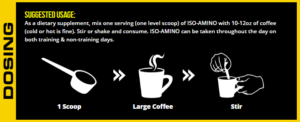 MAN Sports ISO-Amino Coffee Creamer Directions