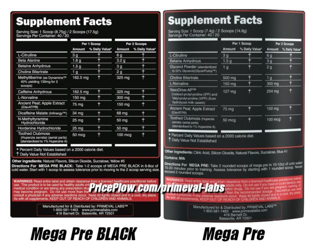 Mega Pre vs Mega Pre Black