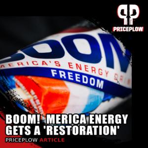 Merica Energy Red White Boom