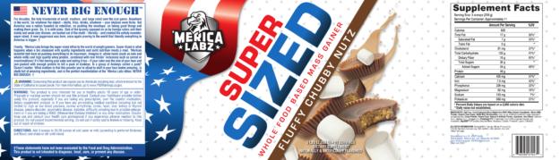 Merica Labz Super Sized Label - Fluffy Chubby Nutz