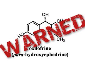 Methylsynephrine Banned