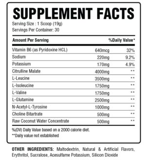 Mind Muscle Nutrition Hydra Focus Ingredients