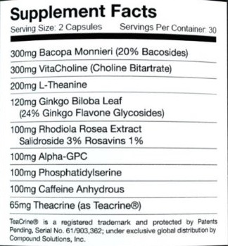 Omnia Nutrition MOD Ingredients