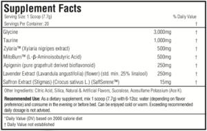 Morphogen Nutrition Somagen Ingredients