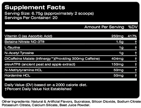 MTS Ruckus Ingredients