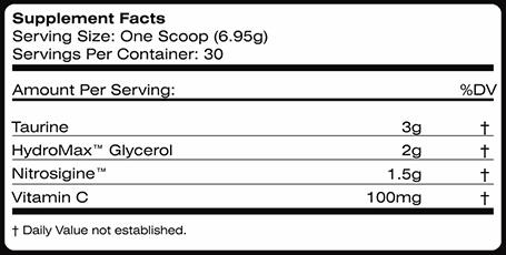 MTS Nutrition Vasky Ingredients