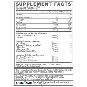 Muscle Elements AmiNO Flow Ingredients