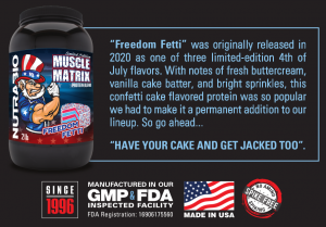 Muscle Matrix Confetti Cake Freedom Fetti