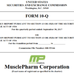 MusclePharm 2018 Q1 Report