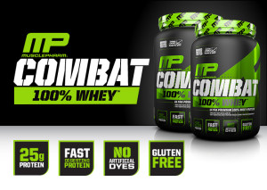 MusclePharm Combat 100% Whey Banner