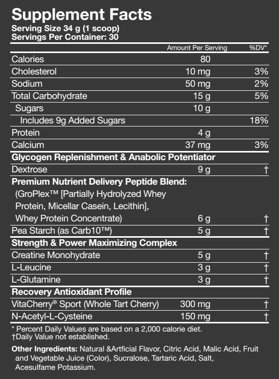 MusclePharm Recon Ingredients