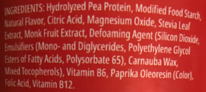 Myprotein Clear Vegan Ingredients