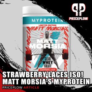 Myprotein Clear Whey Isolate Matt Morsia Strawberry Laces