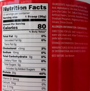 Myprotein Clear Whey Isolate Mike and Ike Strawberry Ingredients