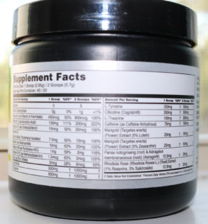 Myprotein Command Nootropic Nutrition Facts