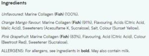 Myprotein Marine Collagen Ingredients