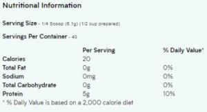Myprotein Protein Gelatin Mix Nutrition Facts