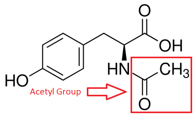 N-Acetyl L-Tyrosine Structure