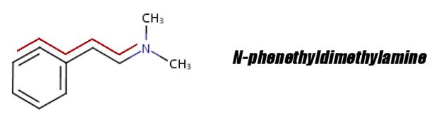 N-phenethyldimethylamine 2D Structure with PEA Backbone Highlighted