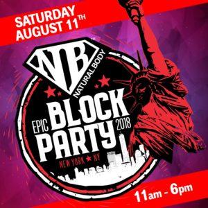 NaturalBodyInc Block Party 2018