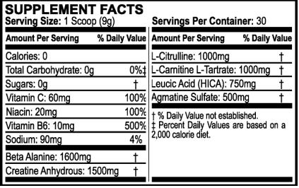 Neogenix Bodyforge Ultra Ingredients